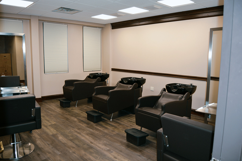 Shampoo Chairs in CEC Research Hair Care Product Testing Salon